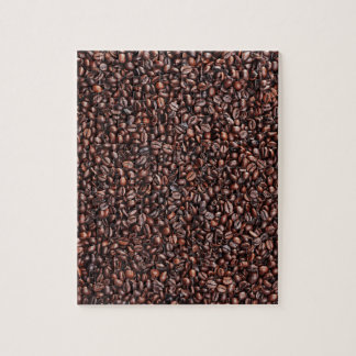 Surface from coffee beans puzzle