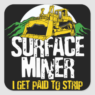 SURFACE MINER SQUARE STICKER