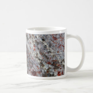 Surface of a gneiss rock with garnets coffee mug