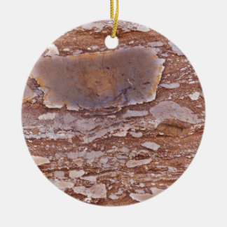 Surface of a red sandstone with siliceous geods ceramic ornament