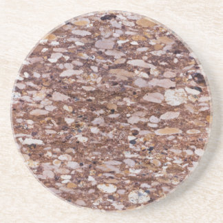 Surface of a red sandstone with siliceous geods coaster