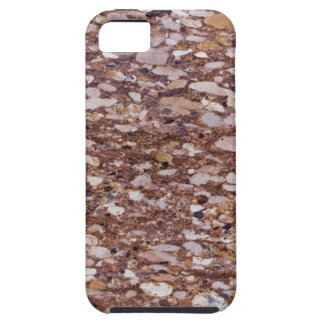 Surface of a red sandstone with siliceous geods iPhone 5 cases