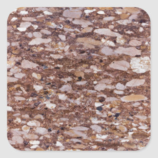 Surface of a red sandstone with siliceous geods square sticker