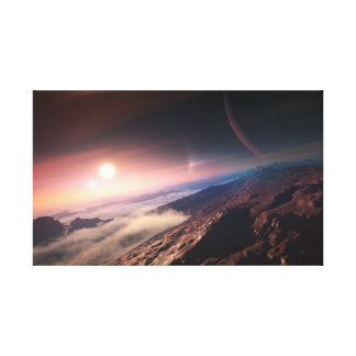 Surface of an Alien Planet Canvas Print