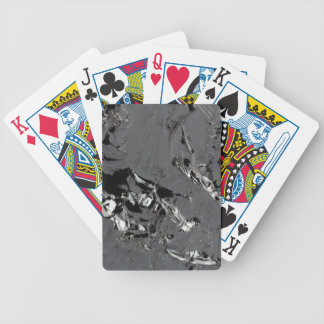 Surface of pure silicon crystals bicycle playing cards