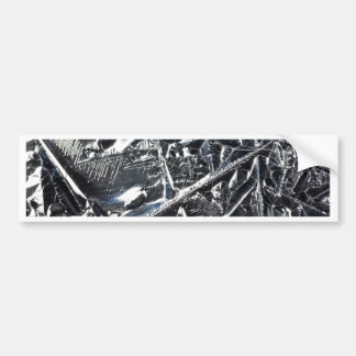 Surface of pure silicon crystals bumper sticker