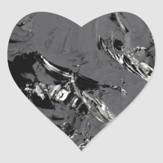 Surface of pure silicon crystals heart sticker