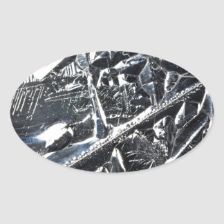 Surface of pure silicon crystals oval sticker