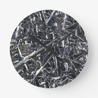 Surface of pure silicon crystals round clock