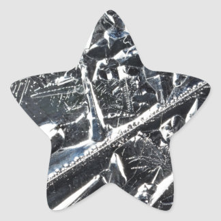 Surface of pure silicon crystals star sticker