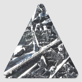 Surface of pure silicon crystals triangle sticker