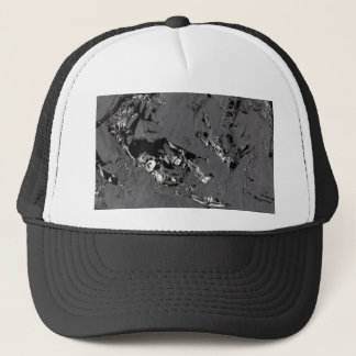 Surface of pure silicon crystals trucker hat