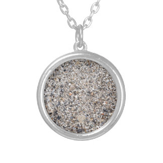 Surface of the beach from the wreckage of shells silver plated necklace