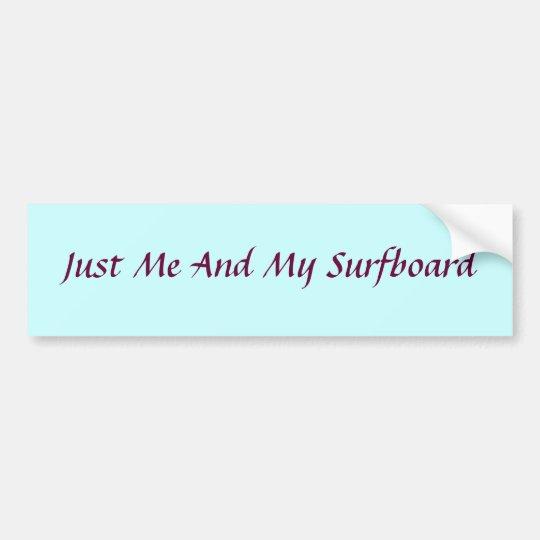 Surfboard Bumper sticker