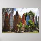 Surfboard Fence Maui, HI Poster