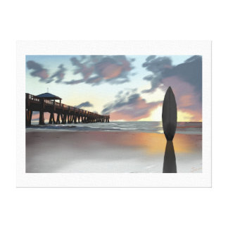 """Surfboard in the Morning"" by Jamie Scott Wilson Canvas Print"