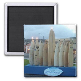 Surfboard Menorah Magnet