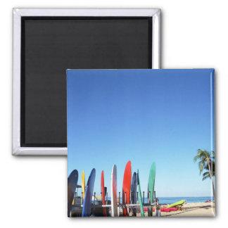 Surfboard Square Magnet