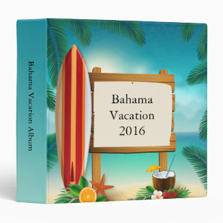 Surfboard Summer Vacation Photo Binder