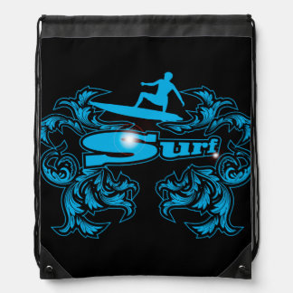Surfboarder Drawstring Bag