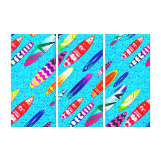 Surfboards 1 Wrapped Canvas
