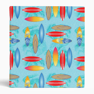 Surfboards And Palm Trees Vinyl Binder