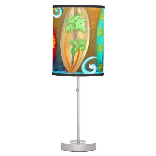 Surfboards art table lamp