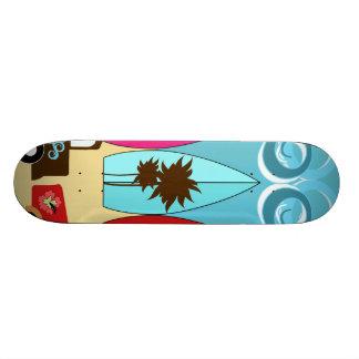 Surfboards Beach Bum Surfing Hippie Vans Skateboard Deck