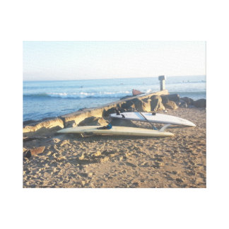 Surfboards by the Pacific Canvas Print