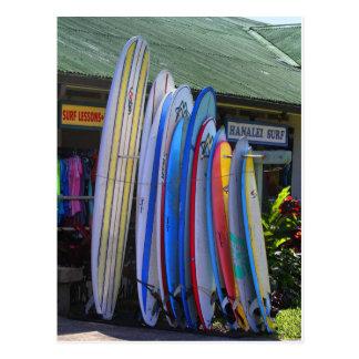 Surfboards for Rent in Hanalei, Kauai Postcard