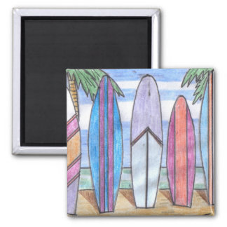 SURFBOARDS magnet (square)