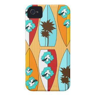 Surfboards on the Boardwalk Summer Beach Theme iPhone 4 Covers
