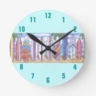 SURFBOARDS STRIPE clock