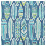 SURFBORTS Watercolor Tiki Surfboard Pattern Fabric