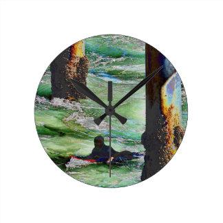 Surfer1 Round Clock