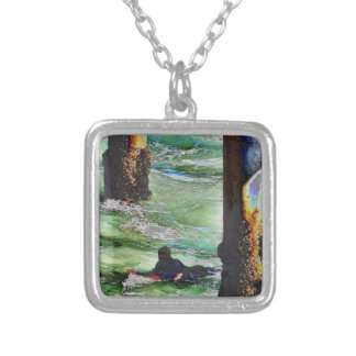 Surfer1 Silver Plated Necklace