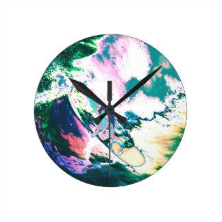 Surfer2 Round Clock