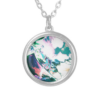Surfer2 Silver Plated Necklace