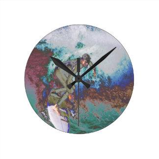 Surfer3 Round Clock