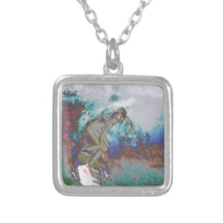 Surfer3 Silver Plated Necklace