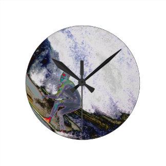 Surfer4 Round Clock