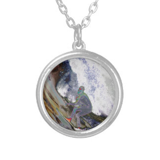 Surfer4 Silver Plated Necklace