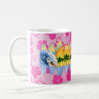 Surfer And Surfboards Classic White Coffee Mug