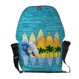 Surfer And Surfboards Commuter Bags