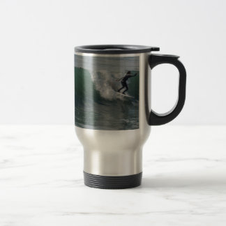 Surfer at Moonstone Beach, Cambria 15 Oz Stainless Steel Travel Mug