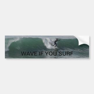 Surfer at Moonstone Beach, Cambria Car Bumper Sticker