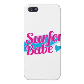 Surfer Babe ladies iPhone 5 Case