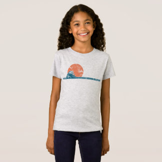 Surfer Beach Vintage Style Girls Shirt