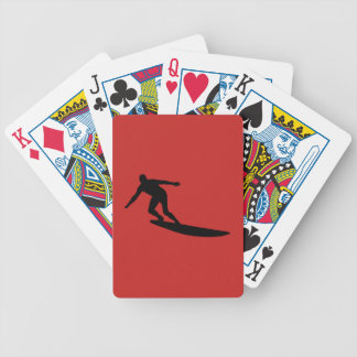 Surfer Bicycle Playing Cards