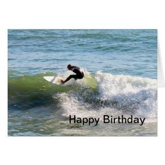 Surfer Birthday Card